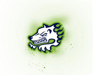狼元素标志设计