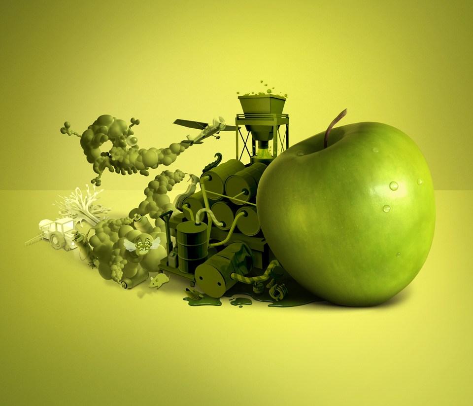 Biocoop食物的影响海报设计欣赏