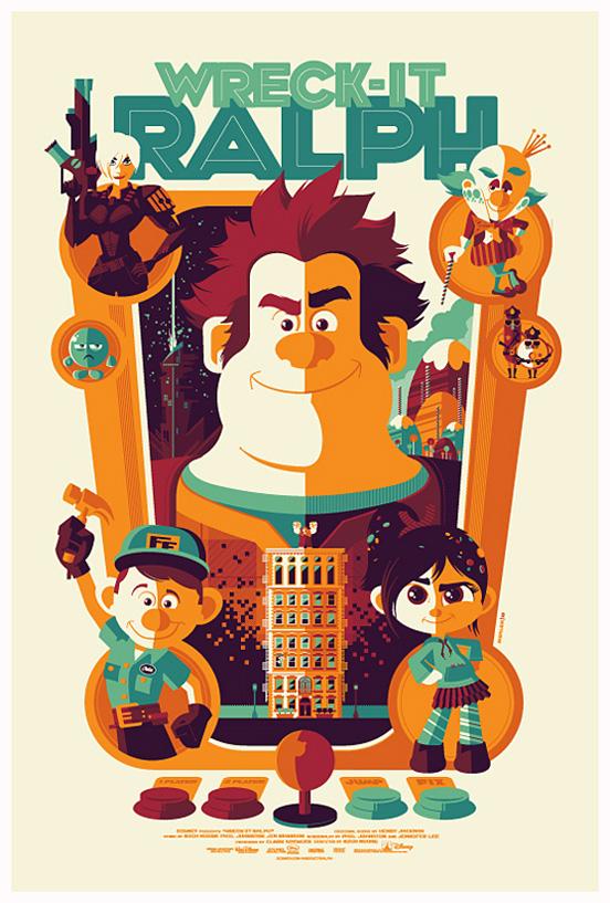 Tom Whalen复古插画海报