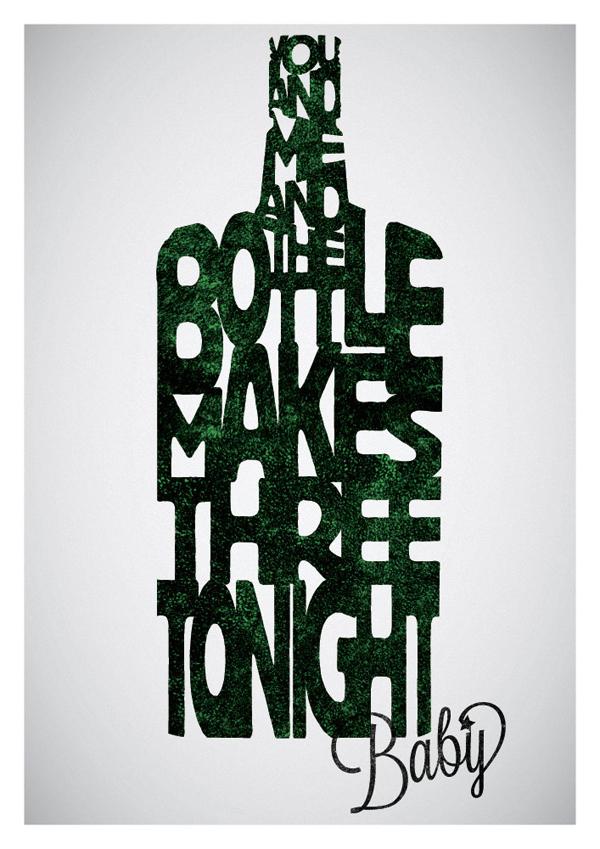 文字艺术与经典对白结合的电影海报设计