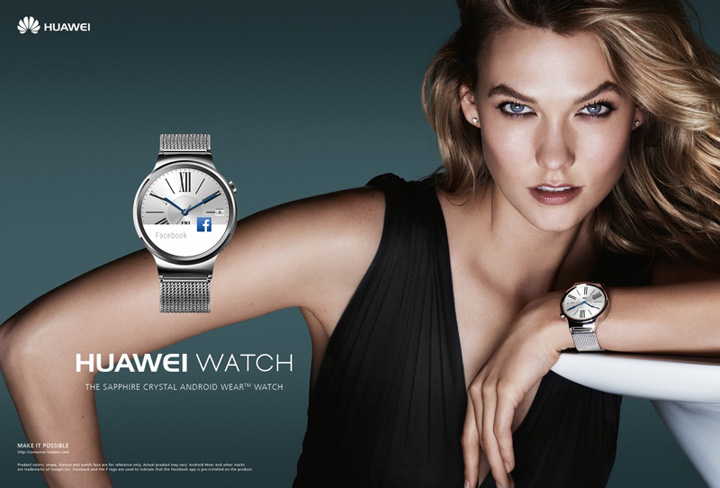 超模Karlie Kloss 代言华为手表唯美大片