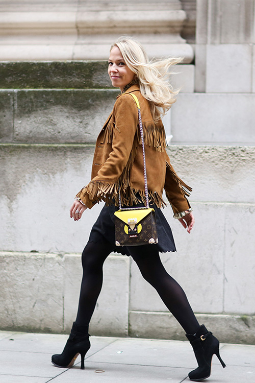 2015秋冬大热流行单品:型格麂皮外套