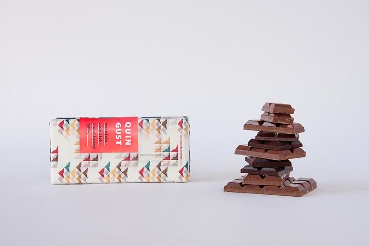 红色Quin Gust传统巧克力包装设计
