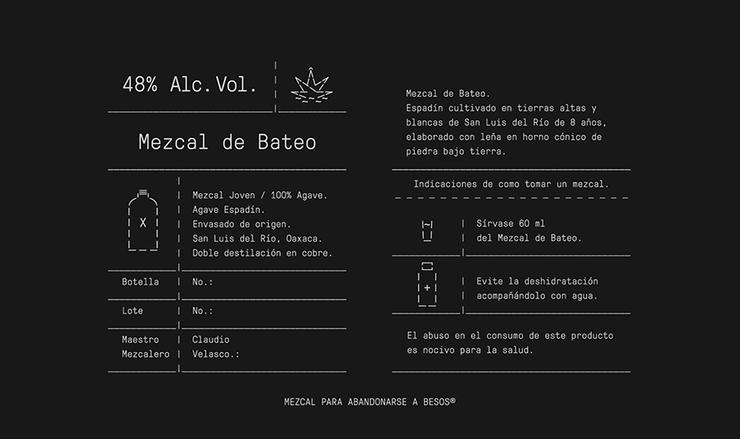 Mezcal de Bateo 酒包装设计