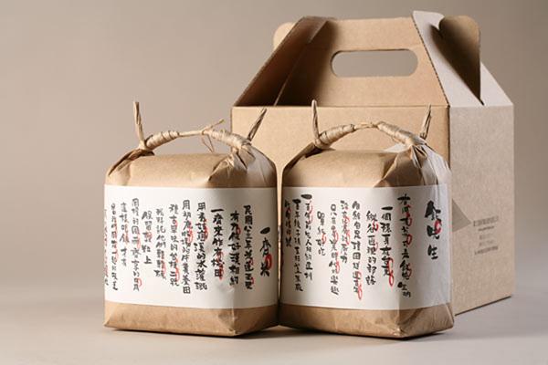 台湾漂亮的大米包装设计作品