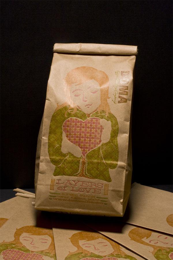 情人节的DOMA咖啡包装袋设计欣赏