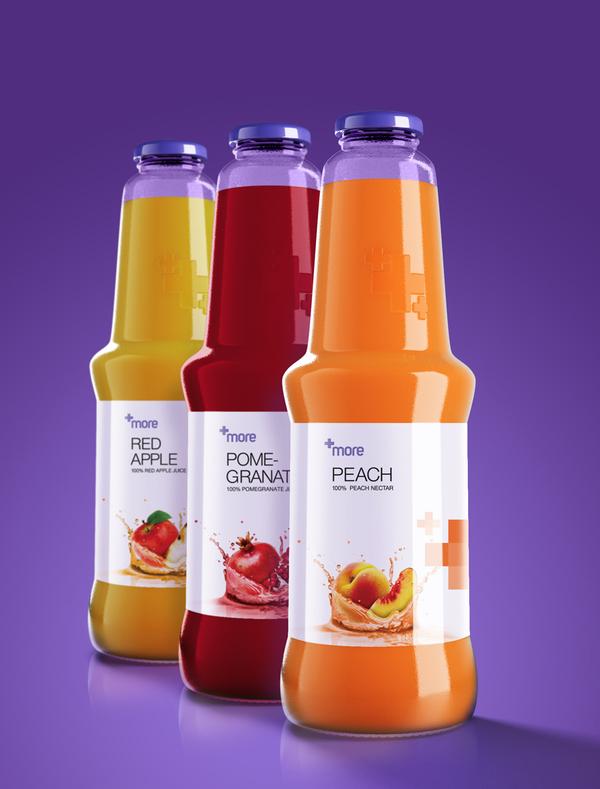 食品包装欣赏+more果汁包装设计