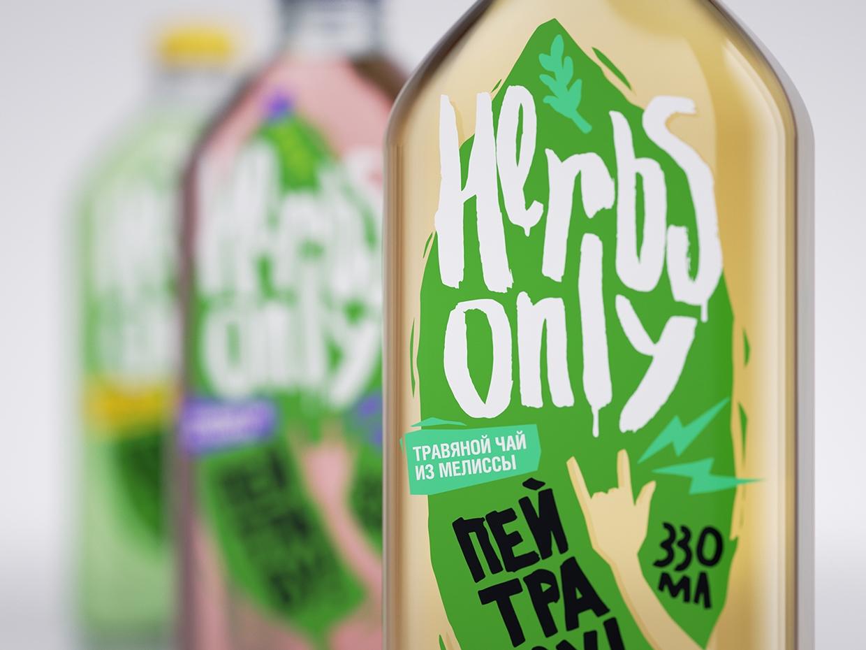 清新风格的HERBAL TEA 茶品牌形象包装设计及海报设计欣赏