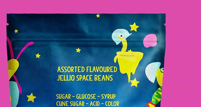 甜口味的红色果冻豆包装设计作品