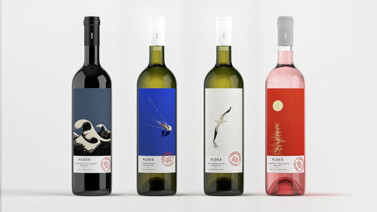 The Dieline Awards 2015 葡萄酒、香槟-第三名- Ploes Wines包装设计