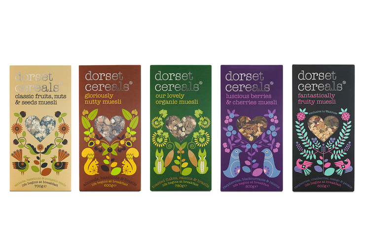 The Dieline Awards 2015 新鲜及加工食品包装设计二等奖- Dorset Cereals
