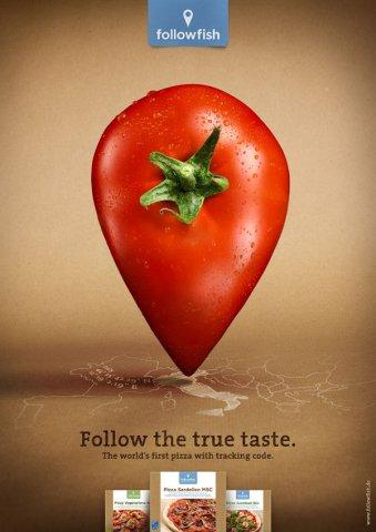 followfish食品创意海报设计欣赏