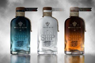 幽灵船朗姆酒概念包装