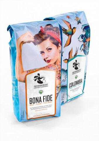 Goshen创意的咖啡包装设计作品
