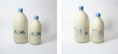 A:M Almond Milk简洁清新的牛奶包装设计欣赏