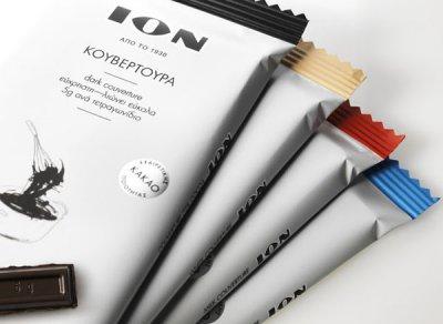 ION黑巧克力系列简洁包装设计欣赏