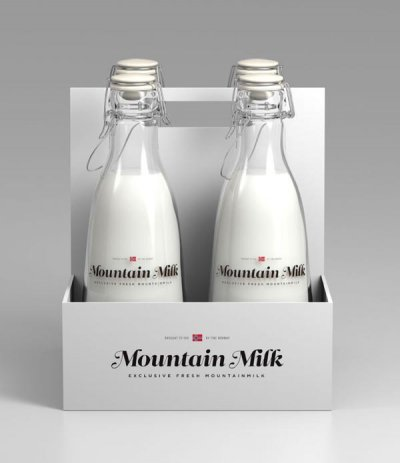 Mountain牛奶包装设计