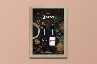 zorra啤酒包装设计
