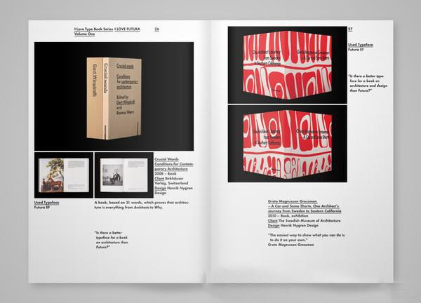I Love Futura字体设计书籍装帧作品欣赏