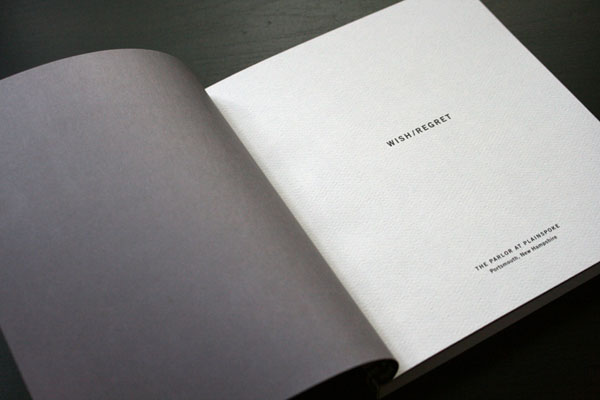黑白调Wish/Regret展览画册设计