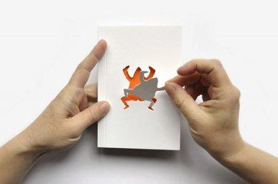 简洁多彩的Zoo in my hand书籍封面设计作品
