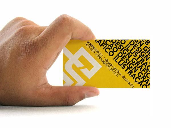 精美的黄色系名片设计