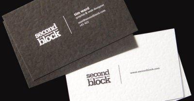 100款新鲜的黑色创意名片设计欣赏三