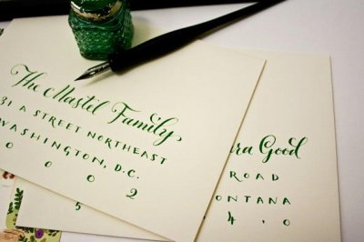 浪漫的手写卡片设计