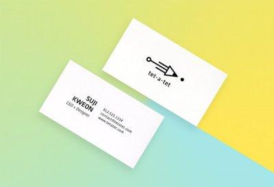 tet-a-tet可爱的文具品牌名片设计