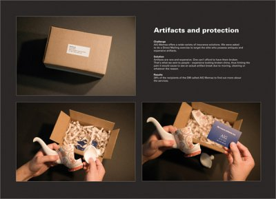 AIG 保险公司的邮包设计