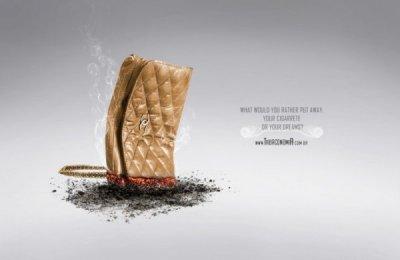 经典禁烟广告欣赏