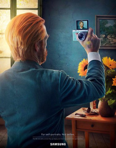 自拍达人 三星NX mini创意相机广告设计作品