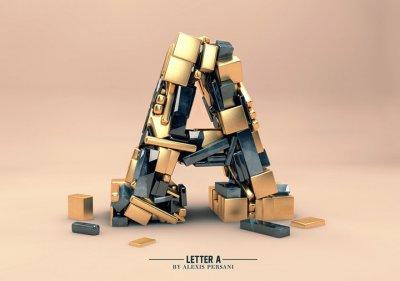 Alexis Persani精彩3D字体设计