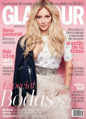 Hilary Duff(希拉里·达芙)演绎《Glamour》杂志时尚大片