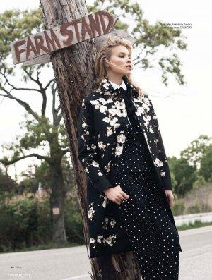 超模Britt Maren 演绎《Elle》杂志时尚大片
