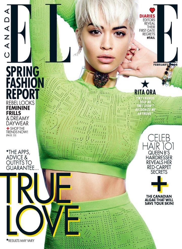 Rita Ora《Elle》加拿大版2016年2月号