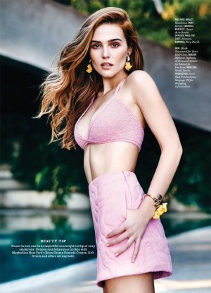 Zoey Deutch 《Cosmopolitan》杂志情人节时尚大片