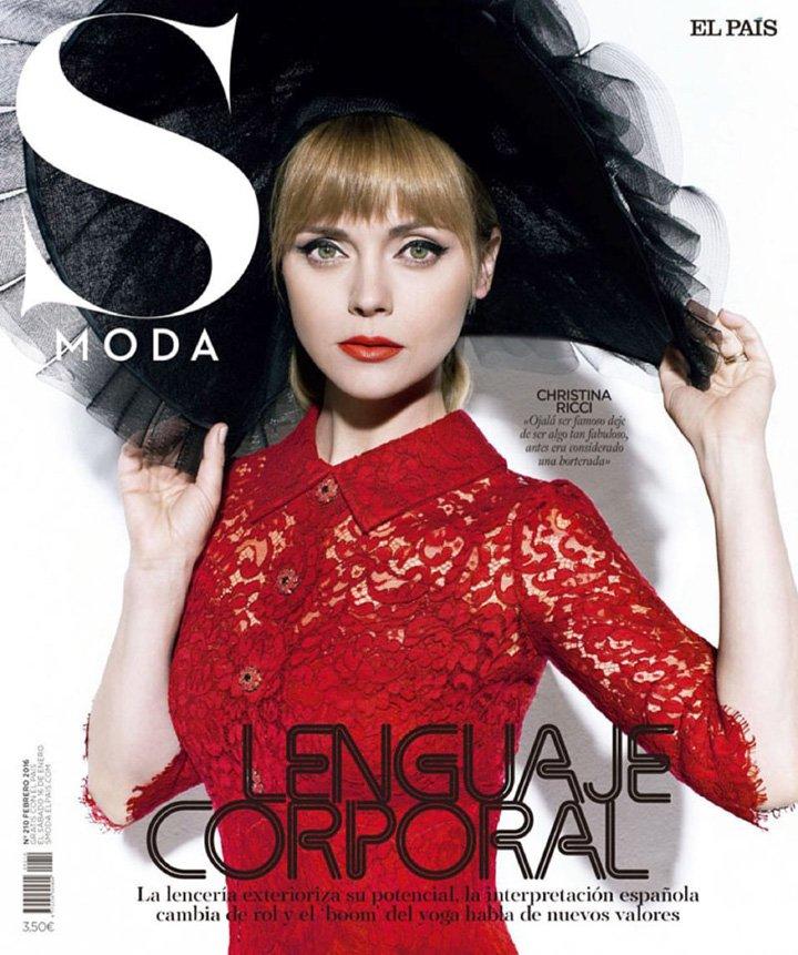 Christina Ricci《S Moda》杂志2016年2月号