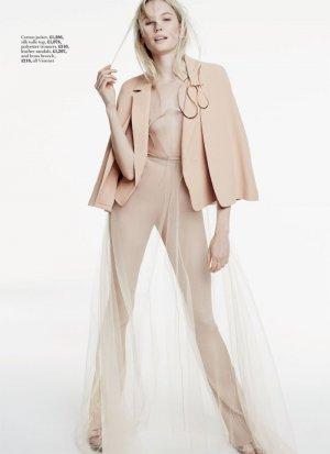 模特Kate Hutchinson演绎《Marie Claire》杂志英国版