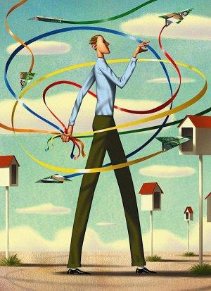 Jim Tsinganos杂志插图