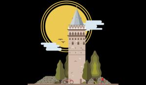 伊斯坦布尔地标建筑插画设计