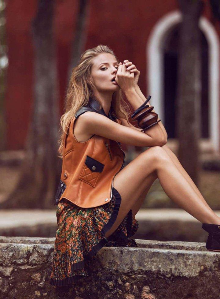 Magdalena Frackowiak《Elle》法国版2016年3月号