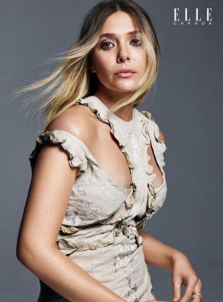 Elizabeth Olsen演绎《Elle》时尚杂志写真