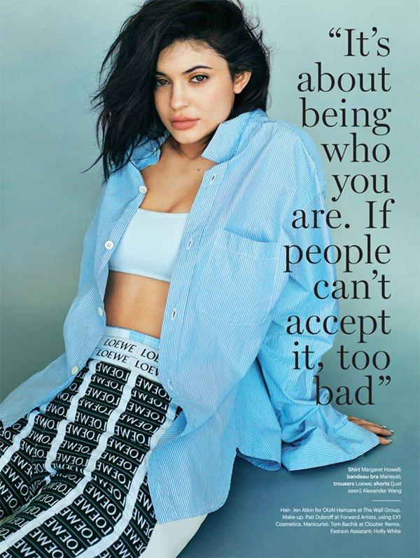 Kylie Jenner《Glamour》英国版2016年6月号