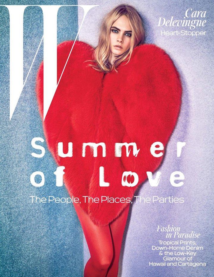 Cara Delevingne《W》杂志2016年6/7月号
