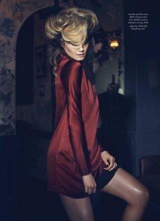 超模Bridget Malcolm 演绎《Harper's Bazaar》时尚杂志大片