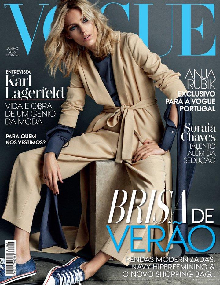 Anja Rubik《Vogue》葡萄牙版2016年6月号