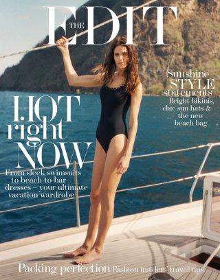 超模Amanda Wellsh演绎最新《The Edit》时尚杂志大片