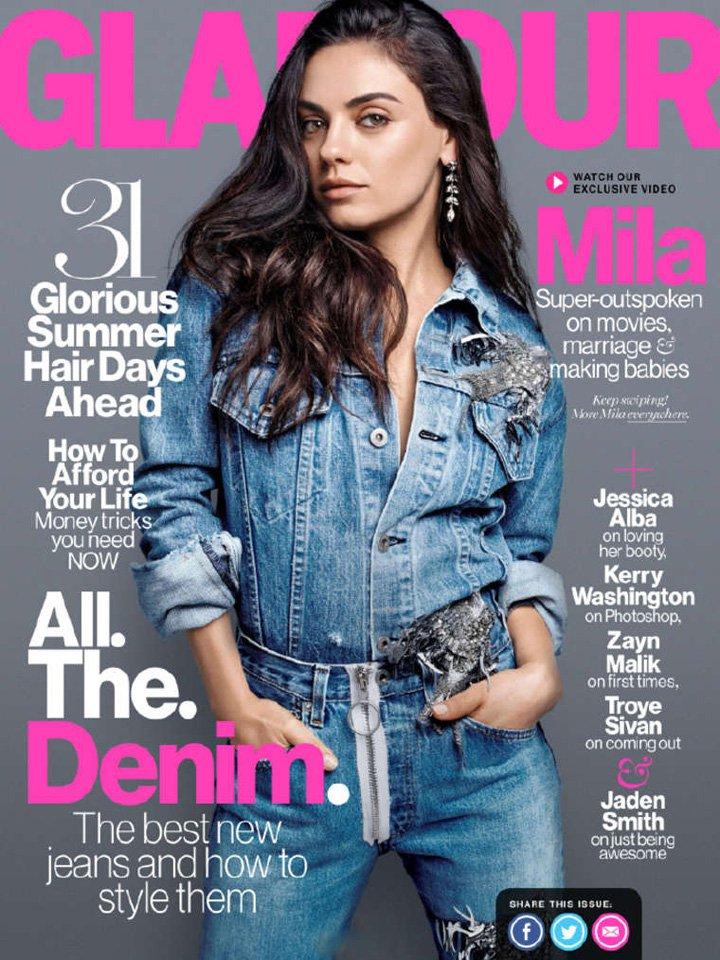 Mila Kunis《Glamour》美国版2016年8月号