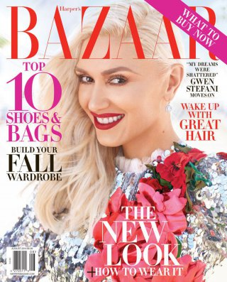 Gwen Stefani演绎《Harper's Bazaar》时尚杂志大片